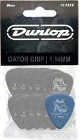 Médiator & onglet Jim dunlop Gator Grip 417 1.14mm Set (x12)