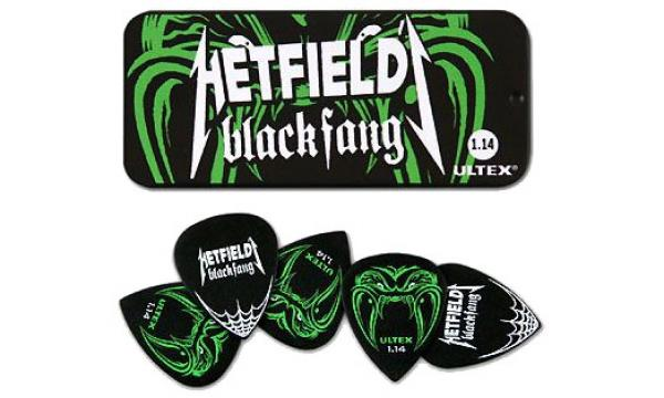 Médiator Jim dunlop Picks James Hetfield Blackfang Ultex 1.14mm Tin Set