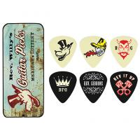 Médiator & onglet Jim dunlop Reverend Willy Collector Metal Box 6-Pick Light