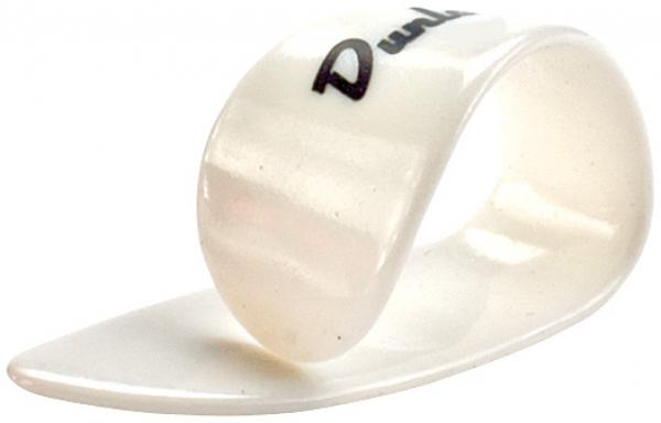 Médiator & onglet Jim dunlop Thumbpick Plastic 9002 Medium White