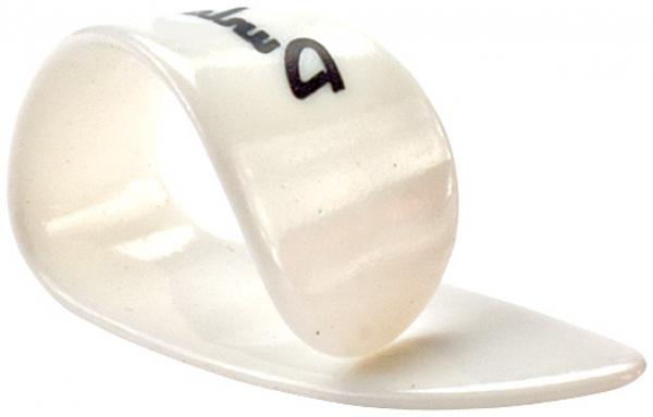 Médiator & onglet Jim dunlop Thumbpick Plastic 9012 Gaucher Medium White