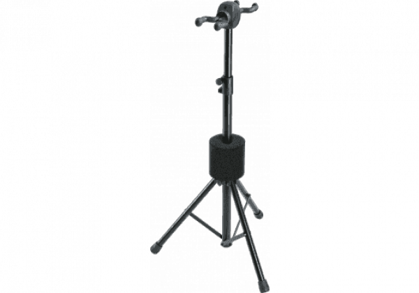 Stand & support guitare & basse K&m 17620 Guitar stand Double - black