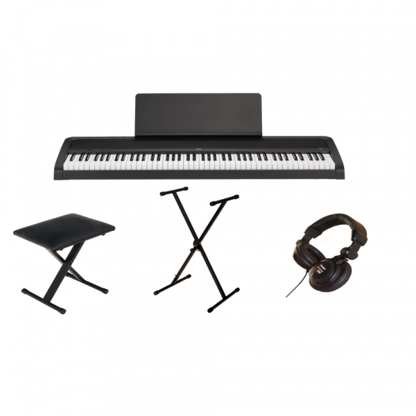 Pack clavier Korg B2 black + Casque + Stand + Banquette