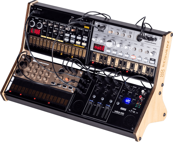 Stand et support studio Korg RACK Pour 4 Volca