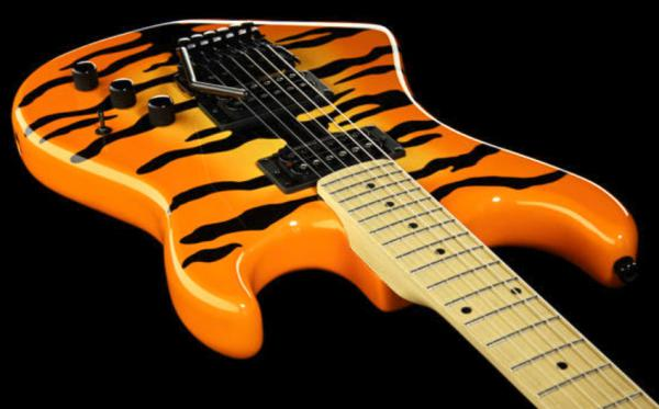 Guitare électrique solid body Kramer Pacer Vintage - orange burst tiger