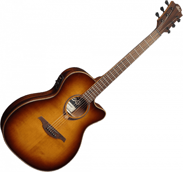 Guitare folk Lag T118ASCE Tramontane - brown shadow