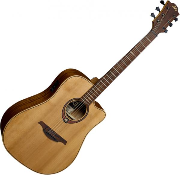 Guitare folk & electro Lag T170DCE Tramontane - Natural