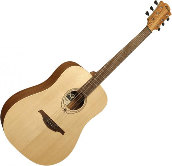 Guitare folk & electro Lag T7D Tramontane - natural