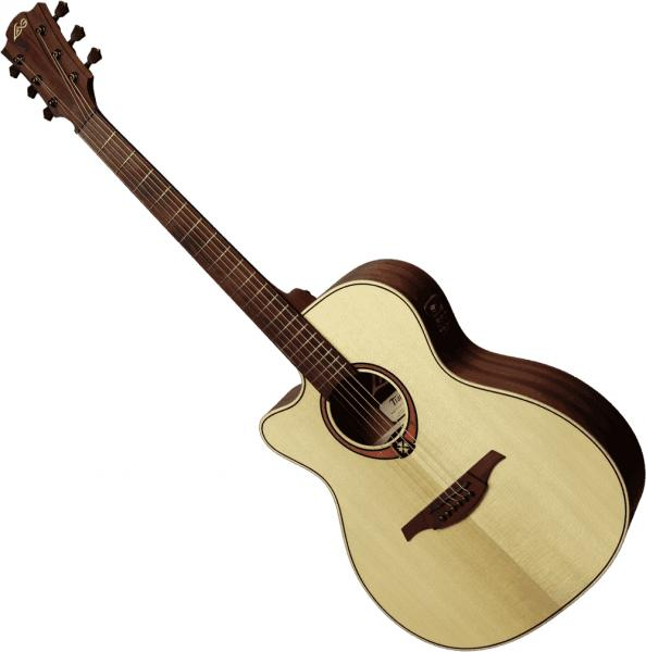 Guitare folk & electro Lag Tramontane TL88ACE Gaucher - Natural