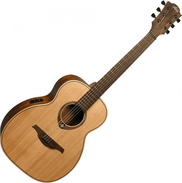 Guitare folk & electro Lag Tramontane Travel RCE - natural satin