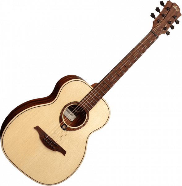 Guitare folk & electro Lag TRAVEL TRAMONTANE GLOSSY +HOUSSE - Naturel
