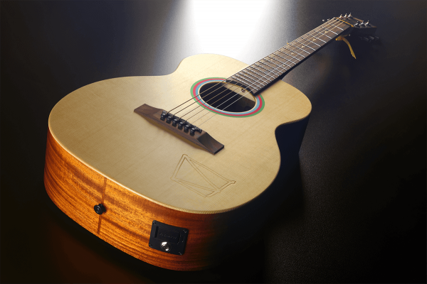 Guitare acoustique voyage Lag Travel Signature Vianney - naturel satin