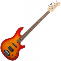 Basse électrique solid body Lakland Skyline 44-02 Deluxe (RW) - Cherry sunburst
