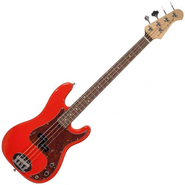 Basse électrique solid body Lakland 44-64 Vintage P Ash USA - Fiesta red