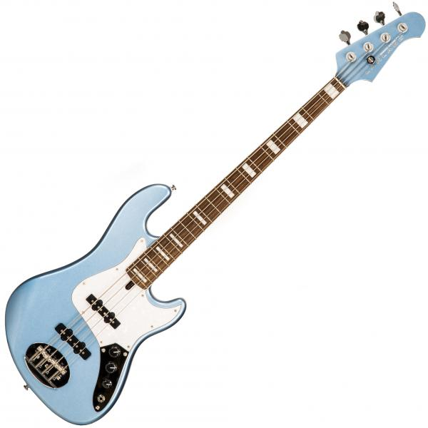 Basse électrique solid body Lakland Skyline Daryl Jones DJ-4 (LAU) - Lake placid blue metallic