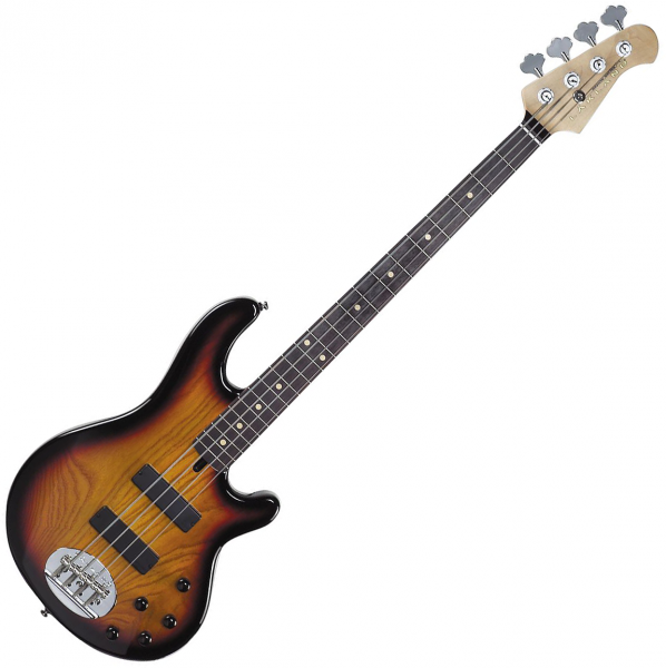 Basse électrique solid body Lakland Skyline 44-01 (RW) - Three tone sunburst
