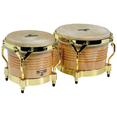 Bongo Latin percussion LP Matador Natural Gold - M201AW