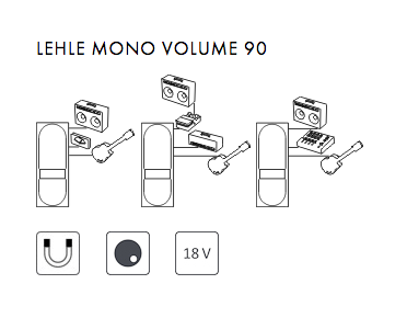 Pédale volume / boost. / expression Lehle Mono Volume 90