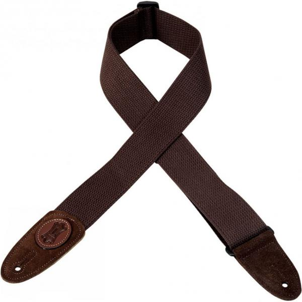 Courroie sangle Levy's MSSC8-BRN Cotton Guitar Strap