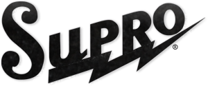 Supro, ampli guitare supro, logo Supro