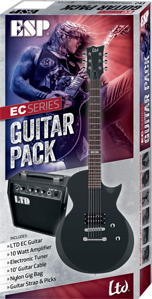 Pack guitare électrique Ltd EC10 Pack - Black