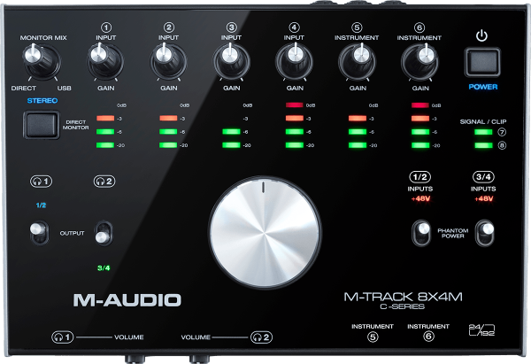 Interface audio usb M-audio M-TRACK 8X4M