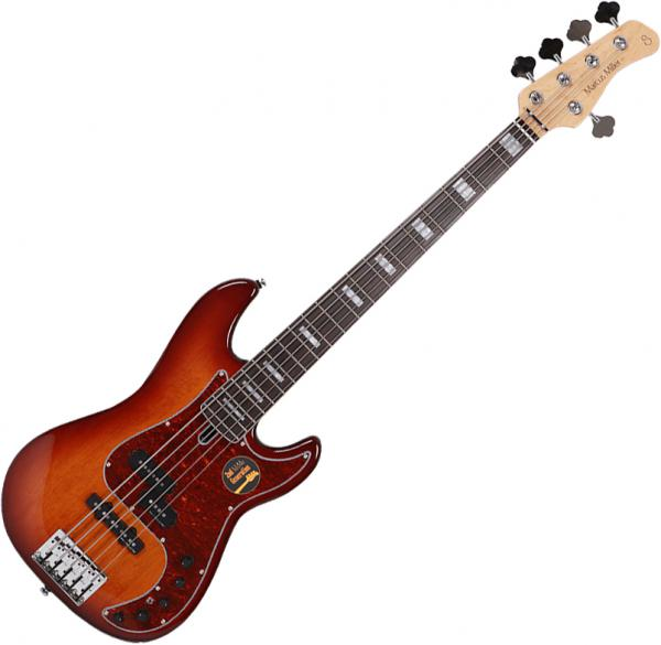 Basse électrique solid body Marcus miller P7 Alder 5ST 2nd Gen (No Bag) - tobacco sunburst