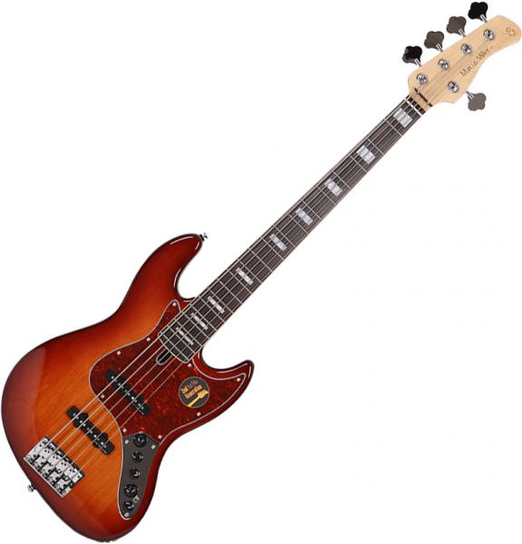 Basse électrique solid body Marcus miller V7 Alder 5ST 2nd Gen (No Bag) - Tobacco sunburst
