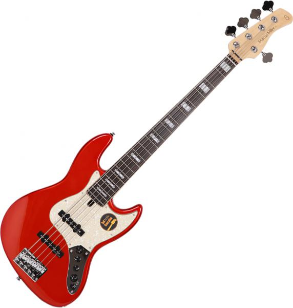Basse électrique solid body Marcus miller V7 Alder 5ST 2nd Gen (No Bag) - bright metallic red