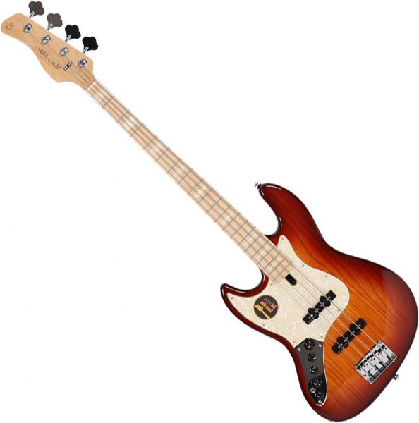 Basse électrique solid body Marcus miller V7 Swamp Ash 4ST 2nd Gen Gaucher (No Bag) - tobacco sunburst