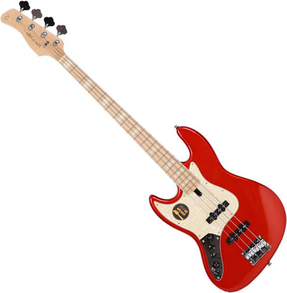 Basse électrique solid body Marcus miller V7 Swamp Ash 4ST 2nd Gen Gaucher (No Bag) - bright metallic red