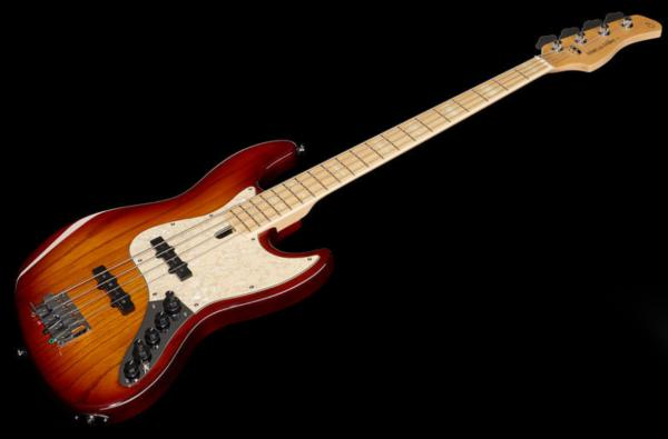 Basse électrique solid body Marcus miller V7 Swamp Ash 4ST 2nd Gen (No Bag) - tobacco sunburst