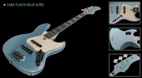 Basse électrique solid body Marcus miller V7 Swamp Ash 5ST 2nd Gen (No Bag) - lake placid blue