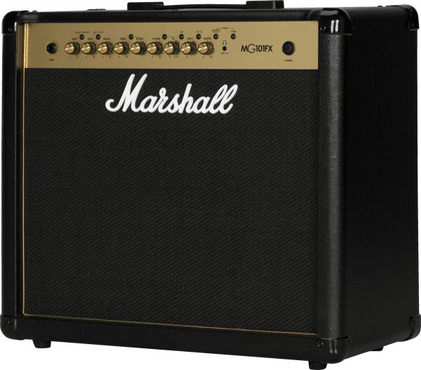 Combo ampli guitare électrique Marshall MG101FX Gold