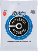 Cordes guitare folk  Martin guitar Authentic Acoustic (6) MA540 Phospor Bronze 92/8 SP 12-54 - Jeu de cordes