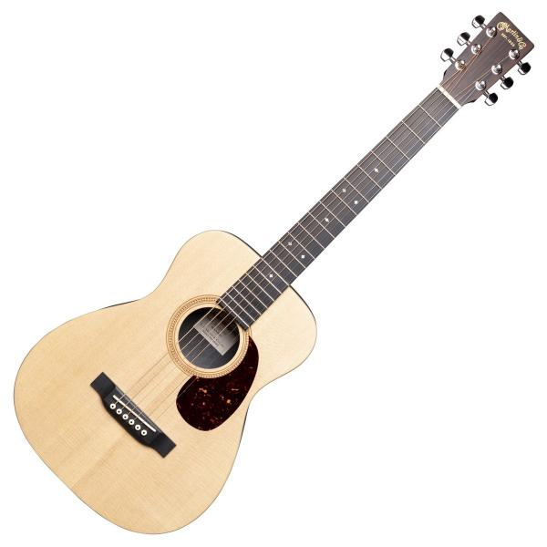 Guitare folk voyage Martin guitar LX1R Little Martin +Bag - natural satin