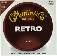 Cordes guitare folk  Martin guitar Acoustic (6) MM12 Retro Light 12-54 - Jeu de cordes