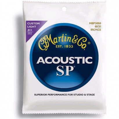 Cordes guitare folk  Martin Acoustic MSP3050 Bronze 80/20 SP Custom Light 11-52 - jeu de 6 cordes