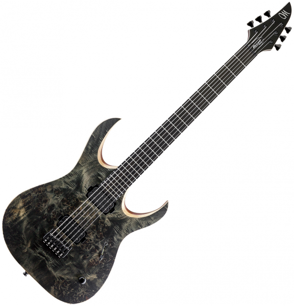 Guitare électrique solid body Mayones guitars Duvell Elite 6 - trans black