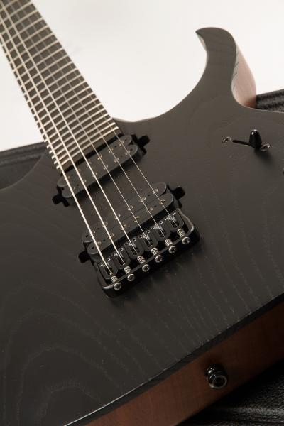 Guitare électrique solid body Mayones guitars Duvell Elite 6 (Seymour Duncan) - monolith black matt