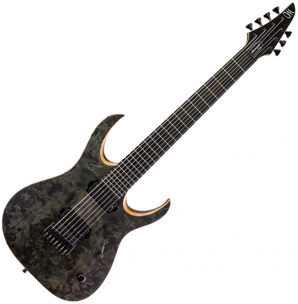 mayones guitars duvell elite 7 trans black livr chez vous avec star 39 s music. Black Bedroom Furniture Sets. Home Design Ideas