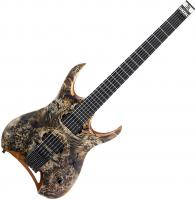Guitare électrique solid body Mayones guitars Hydra Elite 6 (Seymour Duncan) - Trans graphite satin