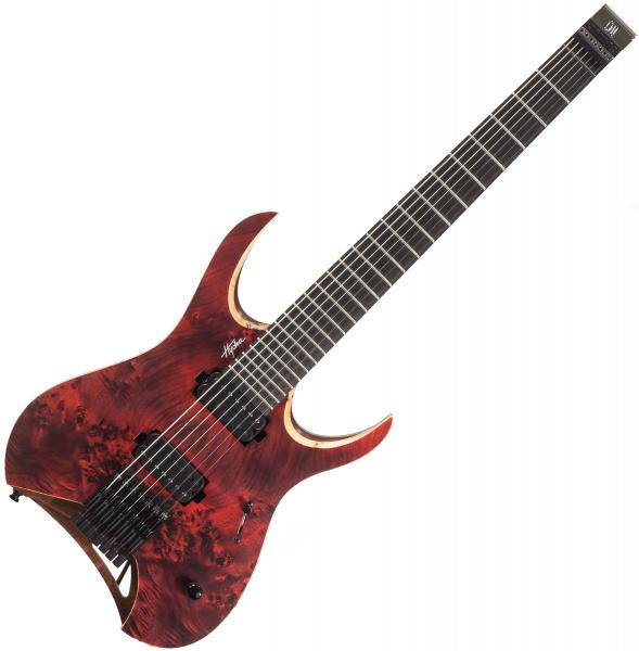 Guitare électrique solid body Mayones guitars Hydra Elite 7 (Seymour Duncan) - Dirty red satin