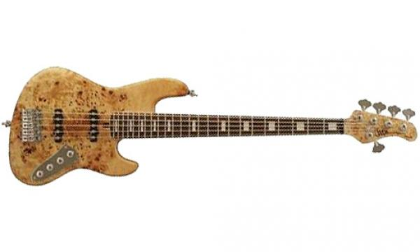 Basse électrique solid body Mayones guitars Jabba Custom EP (RW) - natural