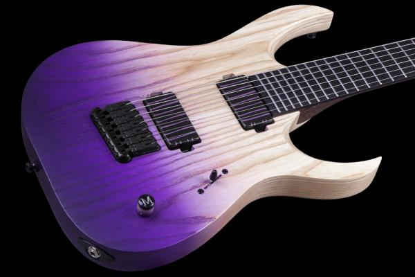 Guitare électrique solid body Mayones guitars John Browne Duvell Q 7 (Bare Knuckle) - winter heather satin