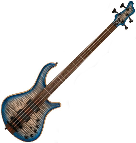 Basse électrique solid body Mayones guitars Patriot Classic 4 (Aguilar, RW) - Jeans blue flamed maple
