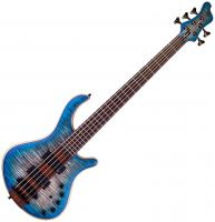 Basse électrique solid body Mayones guitars Patriot Classic 5 - Jeans black blue burst
