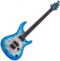 Guitare électrique solid body Mayones guitars Regius Core 6 Ash - Jeans black 2-tone blue burst satin