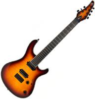 Guitare électrique solid body Mayones guitars Regius 7 Ash - 3 tone sunburst