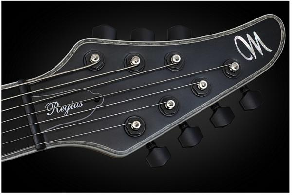 Guitare électrique solid body Mayones guitars Regius 7 (Ash, EMG) - monolith black matt